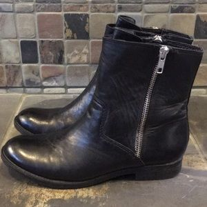 Trouve Leather Moto Style Ankle Boots Size 6.5
